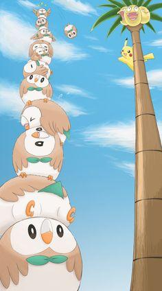 モクローがタワーを完成させましたー いつか崩れそうでひやひやですっ