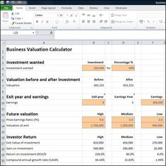 This Free Excel Discounted Cash Flow Valuation Calculator Uses Dcf