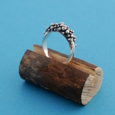SALE Caviar no2 Sterling silver bubble ring by LucieVeilleux
