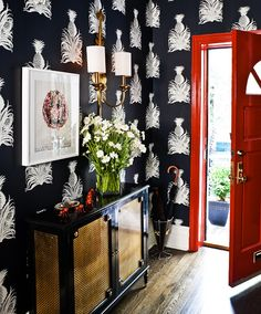 foyer, wallpaper