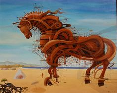 impetuous horses painted by Vasko Taškovski