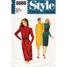 1980er Jahre Cheongsam Kleid Muster Stil 2886 Vintage Sewing Pattern Asian Style Kleid Büste 32,5