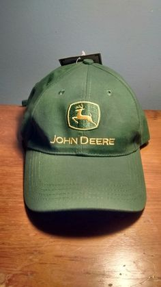 ba8c4732580 John Deere Green Twill Cap Green JD Logo Hat NEW Tractor Farm 100% Cotton   fashion  clothing  shoes  accessories  mensaccessories  hats (ebay link)
