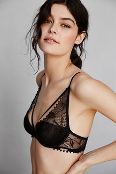 """The Sexiest Bras For Small Busts. """"The trick is embracing plunging cuts, sheer and lacy finishes, strategic underwire, and even a well-placed floral appliqué to shape what you've got."""""""