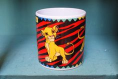 Lion King Simba Disney Mug by CoffeeApothecary on Etsy, $12.00