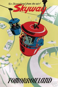 Vintage Disney Skyway poster