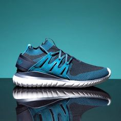 adidas Originals Tubular Nova Primeknit Trainer: Mineral Blue