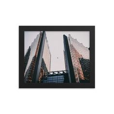 Framed poster of Financial District in Toronto- Downtown - Canada - Toronto photographer - Framed Photo Print - Home Decor - Wall Art Toronto Photographers, Wall Art Decor, Canada, Frame, Prints, Poster, Etsy, Home Decor, Picture Frame