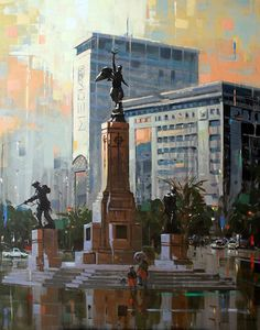 Nasser B. Zaher Illustration Art, Illustrations, Great Paintings, Cityscapes, Cape Town, South Africa, Westerns, Artists, Places