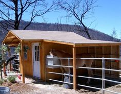 10' x 12' hay and tack shed with lean-to roof cover