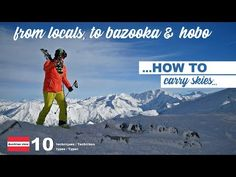 Ski carry - What your ski carrying technique says about you, the Austrian view on 10 types Carry On, Skiing, Sky, Mountains, Type, Youtube, Nature, Ski, Heaven