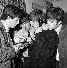 The Beatles enjoying some downtime in London on Oct. 16, 1963