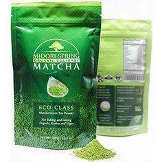 Midori Spring (ECO) Organic Japanese Matcha - Green Tea Powder for Drinks, Cooking and Baking - Kosher, Vegan Certified (100g)