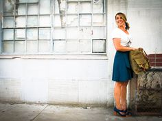 We love high-waisted hemp skirts made in Michigan and organic Love shirts made in California! With some heels, amazing!!!! Visit our American-made clothing store in Tucson or go online!
