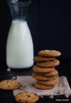 The best ever eggless chocolate chip cookie