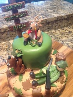Sleeping Deer Hunter Gets Surprise Cake... Coolest Birthday Cake Ideas