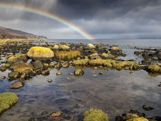 Rainbow over Corrie, Isle of Arran. Image taken on an Olympus OM-D E-M1 camera.