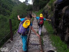 Il sentiero Tracciolino con i bambini: a spasso nel bosco camminando sui binari ed affrontando buie gallerie scavate nella roccia.