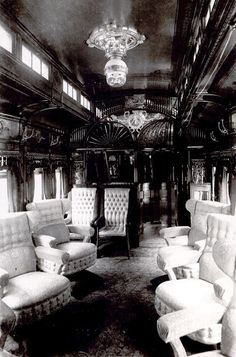 White chairs Pullman Car