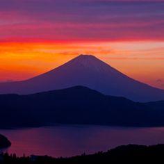 Sunset, Mt. Fuji