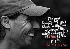 Love you! Rafael Nadal, Nadal Tennis, Tennis Serve, Tennis Quotes, Tennis Stars, Roger Federer, Tennis Players, Athlete, Most Beautiful