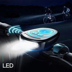 Bike DEL Lumières Set 3 pièces ~ 1x Front /& Arrière 2x ~ rechargeable USB 4 modes