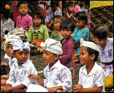 bali - little boys in temple dress (required)