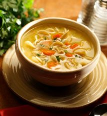 Lazy Slow Cooker Creamy Chicken Noodle Soup - Fight cold season or just enjoy some comfort food with this slow cooker soup recipe.