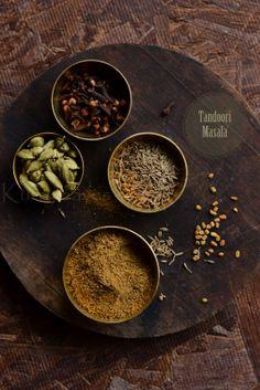kurryleaves: Homemade Tandoori Masala ( Spice Mix) Homemade Spice Blends, Homemade Spices, Homemade Seasonings, Spice Mixes, Healthy Indian Recipes, Spicy Recipes, Asian Recipes, Masala Powder Recipe, Masala Recipe