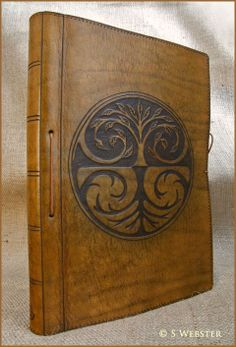 A4 TREE OF LIFE LEATHER JOURNAL, BOOK OF SHADOWS