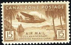 1939 CaNaL ZoNe PoSTaGe STaMP