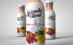 Packaging of the World: Creative Package Design Archive and Gallery: Spendid Blend Cranberry and Orange Juice