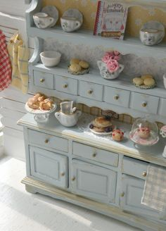 country cottage bead and breakfast hutch.  Sweet!