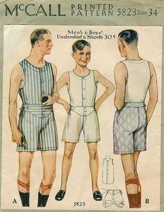 simplicity men underwear pattern - Google Search
