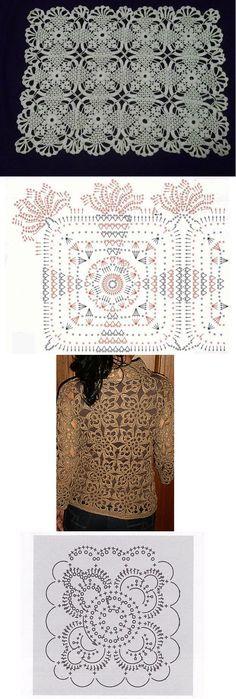 lacy crochet motifs