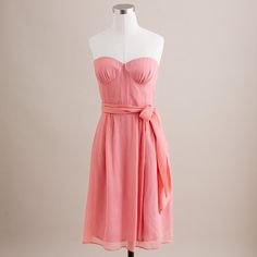 $235 J.Crew. Silk chiffon Cyndee dress. Don't think I'm doing the separate bust cups.