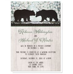 Reception Only Invitations - Rustic Bear Spring Floral – Artistically Invited