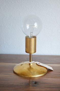 Gold Brass Industrial modern wall sconce light. by triple7recycled