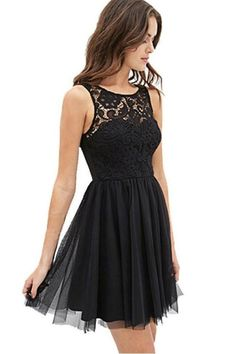 Lace Tulle Prom Dress, Black Short Party Dress, Mini Cocktail Dress from fancydress Hoco Dresses, Tulle Prom Dress, Dance Dresses, Pretty Dresses, Beautiful Dresses, Casual Dresses, Party Dress, Black Homecoming Dresses, Lace Dress
