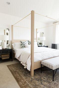 Neutral, organic master bedroom