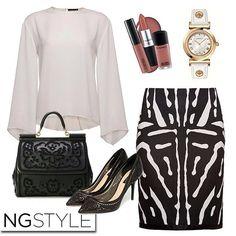 Siyah ve beyazın buluşması monokrom desenler ile sezonun en trendi #ngstyle kadını...