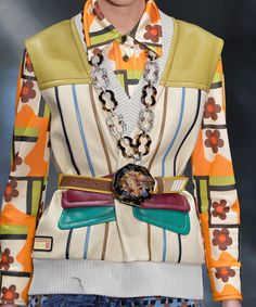 Prada MFW Spring 2017 Review - Sweater Vests | For spring 2017, Miuccia Prada reimagined the sweater-vest in a cool, innovative way. #refinery29 http://www.refinery29.com/2016/09/124280/prada-mfw-spring-2017-review