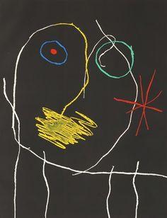 art-Walk — Joan Miro Le Prophete la Nuit, 1965 Etching on. Joan Miro Pinturas, Abstract Expressionism, Abstract Art, Abstract Landscape, Joan Miro Paintings, Art Plastique, Art Lessons, Les Oeuvres, Modern Art