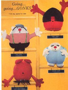 Going, Going...gonks Vintage Mod 60's Gonks Dolls Sewing Pattern Simplicity 5943