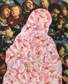 £du∆rdo √. -técnica:collage 23.4 x 29 cm, título: MALVAVIRGE-