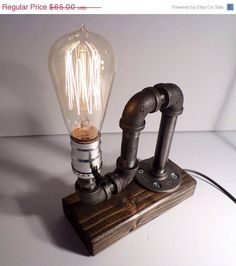 Hey, I found this really awesome Etsy listing at https://www.etsy.com/listing/198458676/industrial-table-lamp-spanish-oak