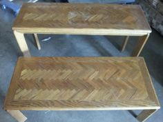 2 Piece Wooden Table Set
