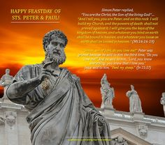 Novena to the Holy Fathers and Apostles Peter and Paul #pinterest #stspeterandpaul Day NINE O holy apostles, Peter and Paul, I choose you this day forever to be my special patrons and advocates..........
