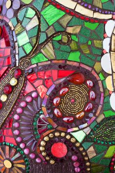 Stained Glass Mosaic Butterfly