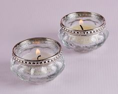 These petite silver fleck glass tea light holders are a cute and simple way to decorate at your wedding. Glass Bell Jar, The Bell Jar, Glass Tea Light Holders, Votive Holder, Centerpiece Decorations, Baby Shower Decorations, Unique Bridal Shower Gifts, Candle Wedding Favors, Metallica